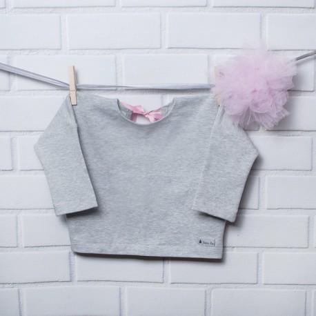 Bluza typu over size szara